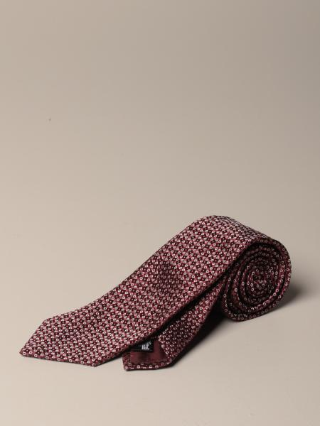 Emporio Armani tie in patterned silk
