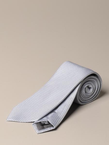 Emporio Armani tie in micro patterned silk