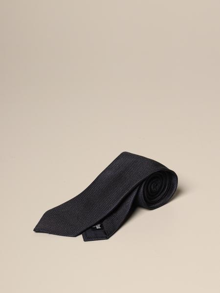 Emporio Armani tie in silk with diagonal stripes