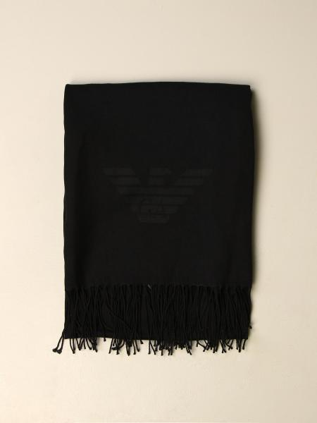 Emporio Armani wool scarf with logo