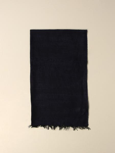 Emporio Armani wool and modal scarf with logo