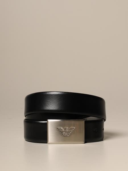 Cintura reversibile Emporio Armani in vitello liscio bicolor