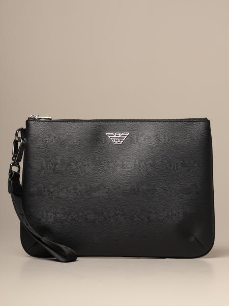 Emporio Armani flat clutch bag in synthetic leather