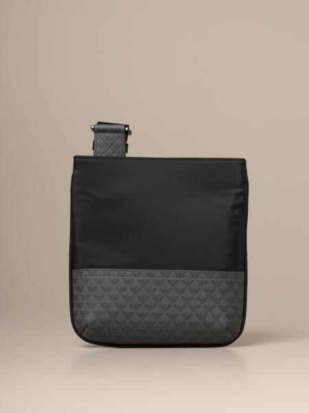 Emporio Armani flat bag in nylon and synthetic leather