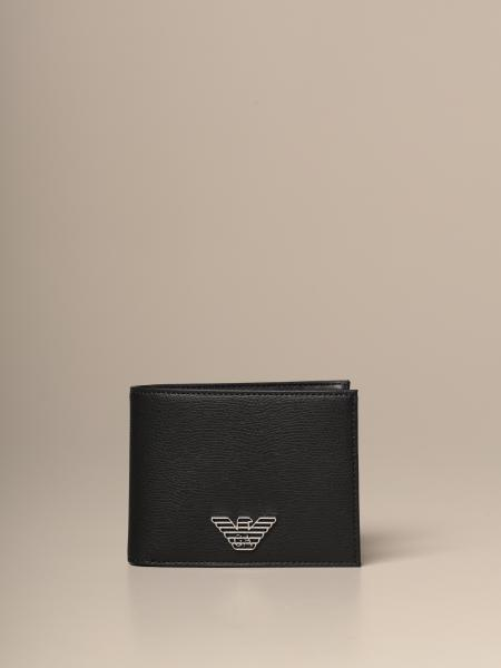Emporio Armani wallet in synthetic leather with logo