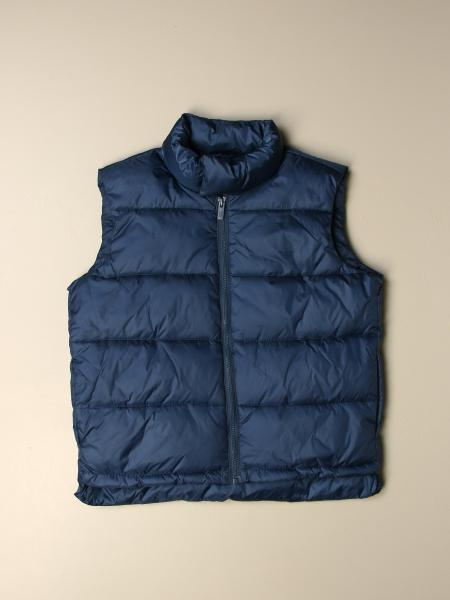 Sleeveless down jacket with logo