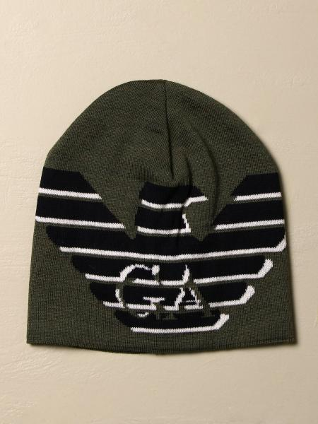 Emporio Armani wool hat with big logo
