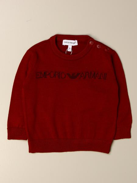 Emporio Armani sweater in wool blend with eagle logo