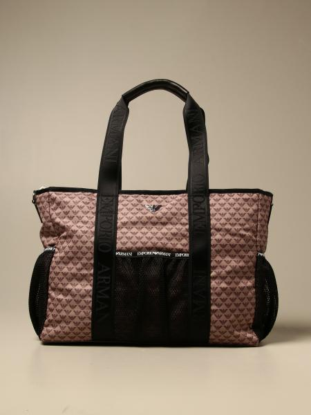 Diaper bag Mama's bag Emporio Armani in nylon with logo