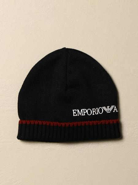 Emporio Armani hat in wool with logo