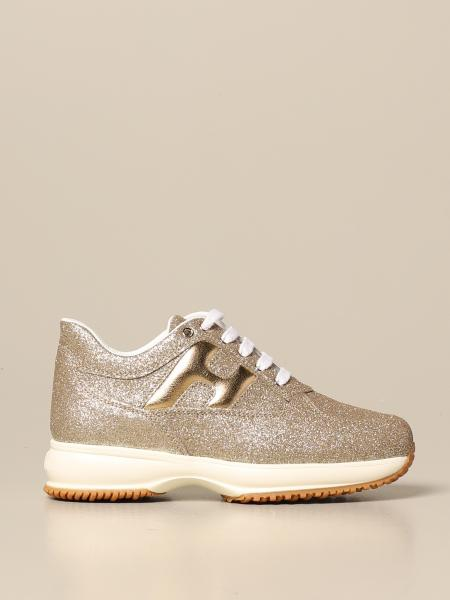 Interactive Hogan glitter sneakers with rounded H