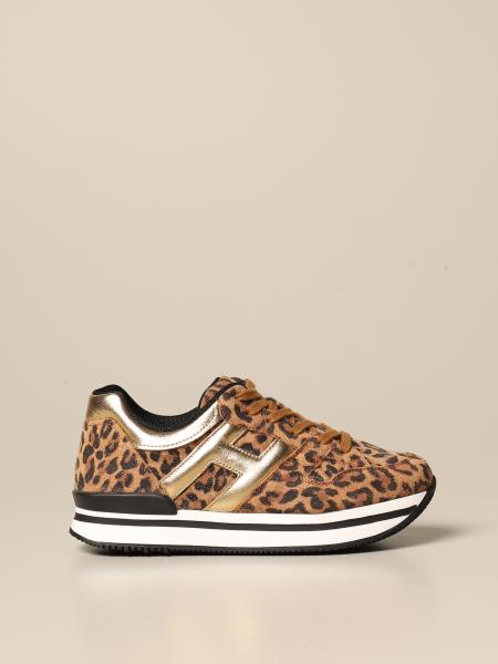 J222 Hogan sneakers in animalier lurex suede