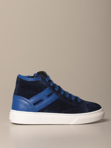 H340 Hogan suede and leather sneakers
