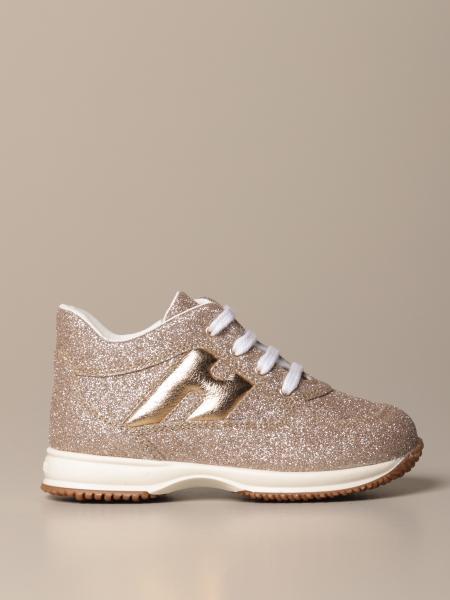 Sneakers Hogan Baby in pelle glitter