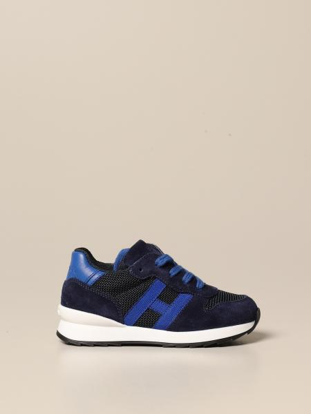 R261 Hogan Baby running sneakers in suede and mesh