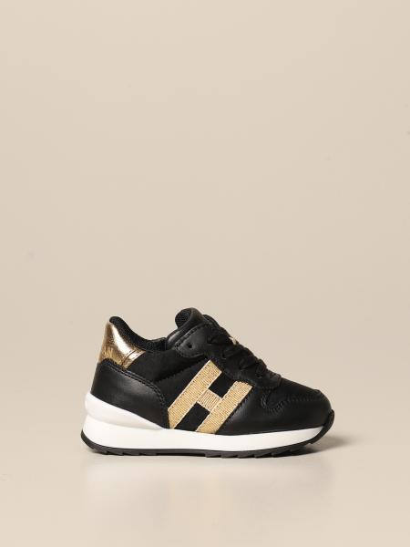 J261 Hogan Baby sneakers in leather and fabric