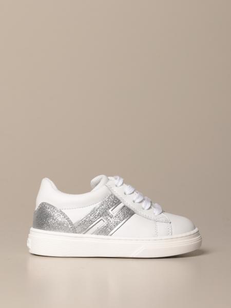 Sneakers H365 Hogan Baby in pelle e glitter