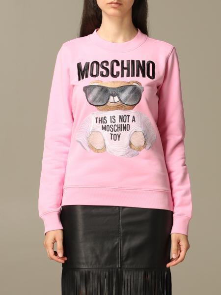 Sweat à col rond Moschino Couture avec patch Teddy Bear