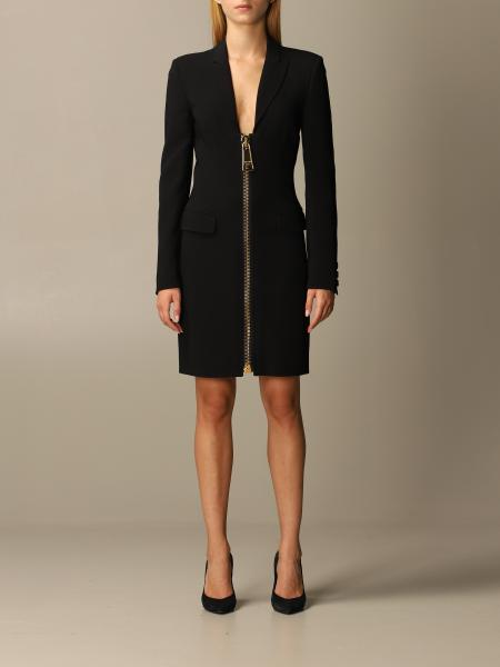 Moschino Couture cady dress with big zip