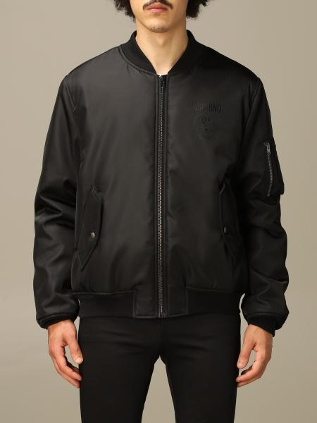 Bomber Moschino Couture in nylon con big logo Double Question Mark