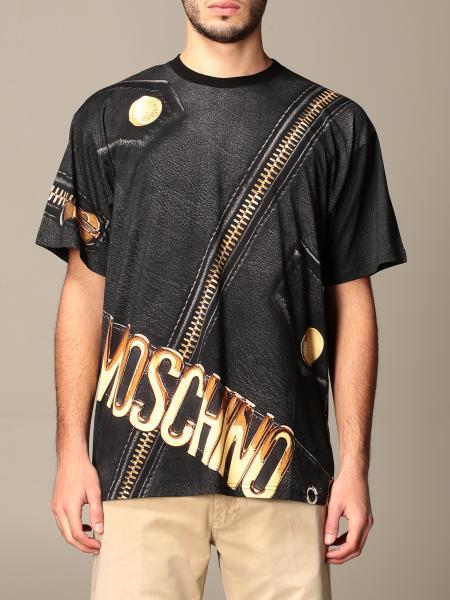 T-shirt Moschino Couture con logo e zip