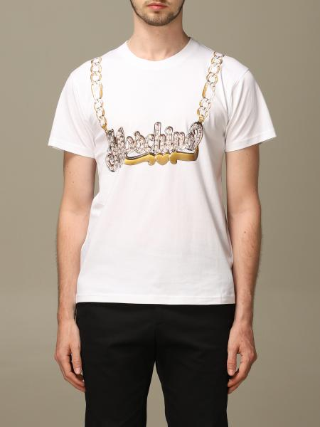 T-shirt Moschino Couture a girocollo con catena Moschino