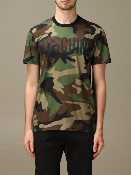 T-shirt Moschino Couture camouflage con logo Moschino