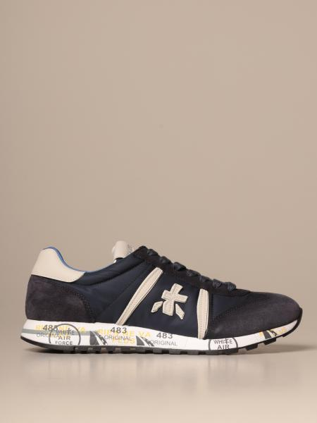 Lucy Premiata sneakers in suede and nylon