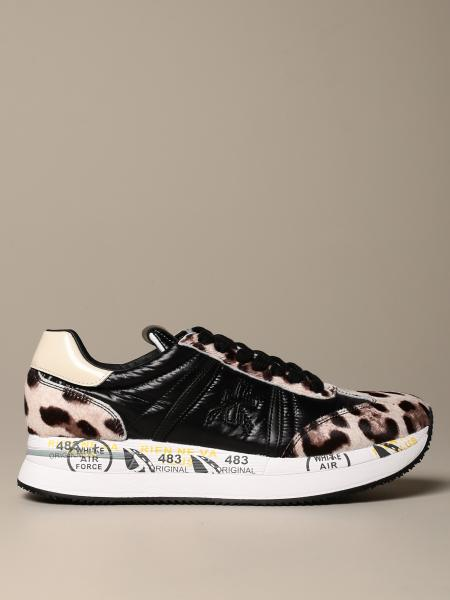 Conny Premiata sneakers in spotted pony and leather