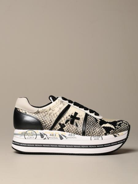 Beth Premiata sneakers in python print leather