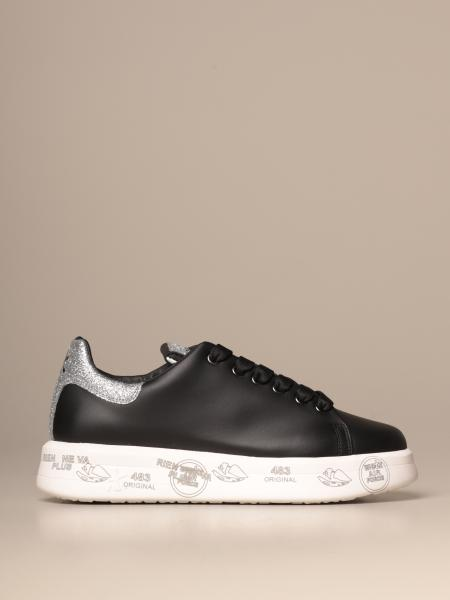 Belle Premiata sneakers in leather and glitter