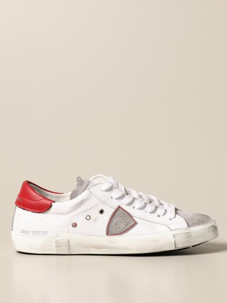 Philippe Model: Sneakers Paris Philippe Model in pelle e camoscio