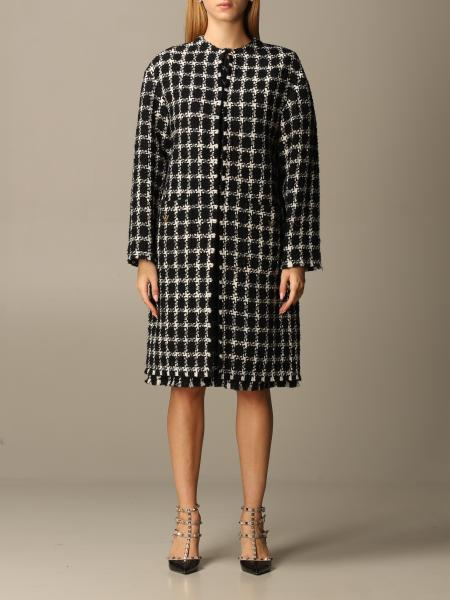 Valentino coat in bouclé virgin wool blend