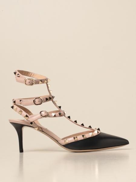 Valentino Garavani Rockstud décolleté in leather with studs