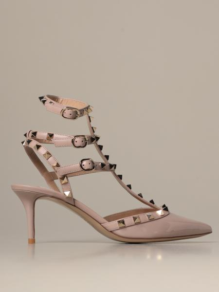 Valentino Garavani Rockstud décolleté in patent leather and leather with studs