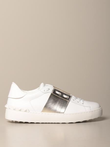 Valentino Garavani Open sneakers in leather with laminated band