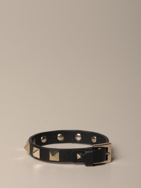 Valentino Garavani Rockstud leather bracelet with studs