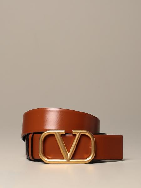 Cintura Valentino Garavani in vera pelle reversibile con fibbia VLogo