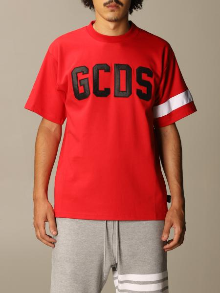 GCDS cotton T-shirt with logo and band