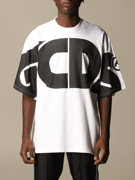Gcds men: GCDS over cotton T-shirt with logo