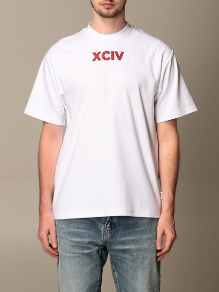 Gcds men: GCDS cotton T-shirt with college logo on the back