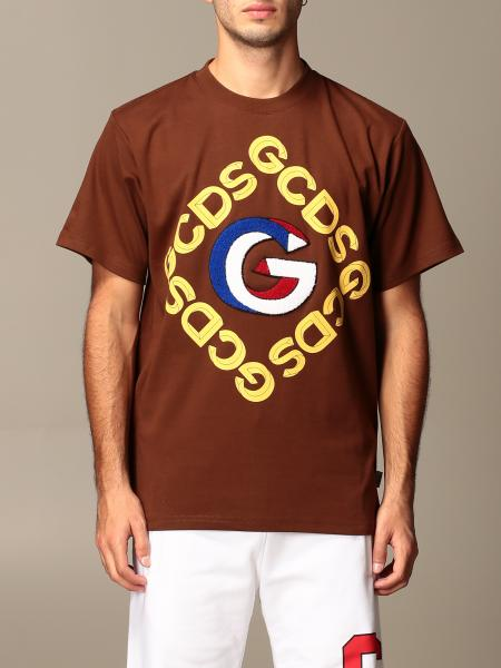 Gcds men: GCDS cotton T-shirt with 3D logo