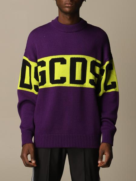 Gcds men: GCDS pullover in wool blend with logo