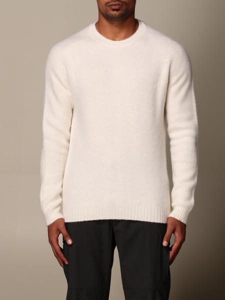 Eleventy: Pullover Eleventy a girocollo in lana garzata