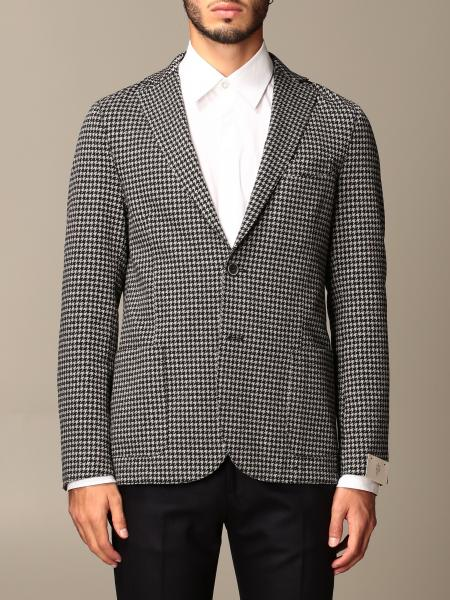 Eleventy: Eleventy jacket in houndstooth boiled wool