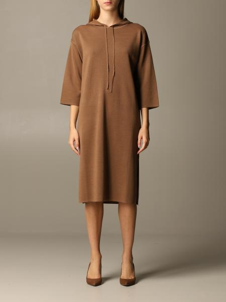 Lerici Max Mara dress in wool knit with hood