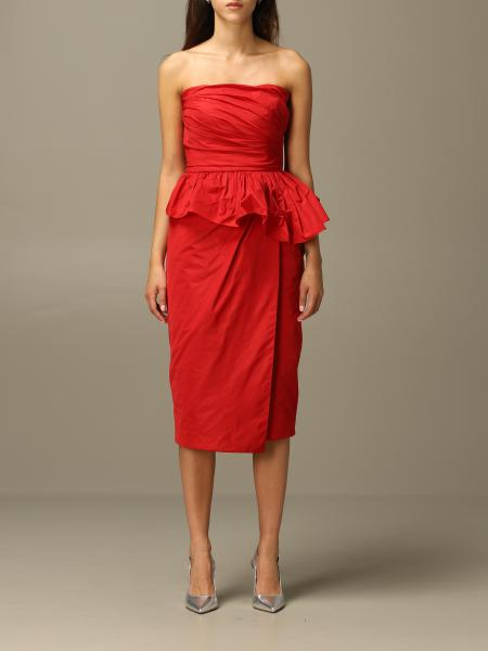 Matteo Max Mara dress in taffeta with rouches