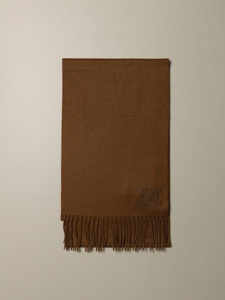 Max Mara scarf in pure cashmere with logo