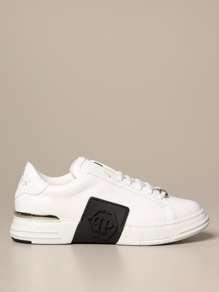 Philipp Plein leather sneakers in with logo