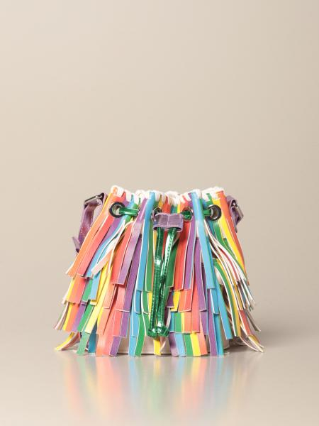 Stella McCartney bucket bag with multicolor fringes